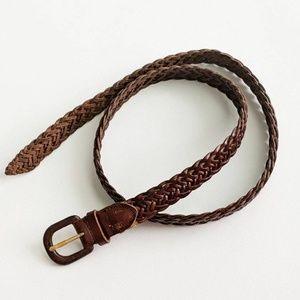 Talbot's Genuine Leather Braided/Woven Belt